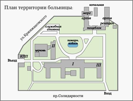 больница костюшко схема проезда